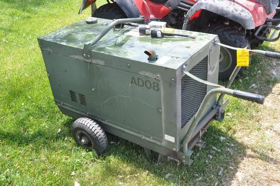 Kubota army surplus portable generator | Heavy Construction