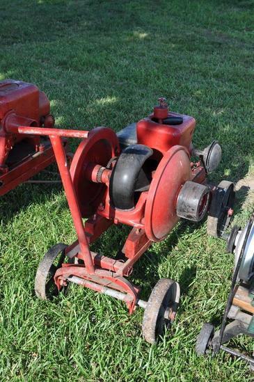 Fairbanks Morse 1.5 HP engine mounted on steel wheel truck