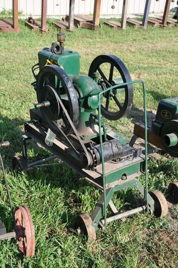 MccCormick Deering 1.5-2.5 HP engine mounted on steel wheel truck