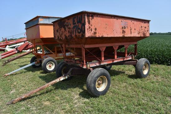 Ficklin 185 gravity wagon on running gear
