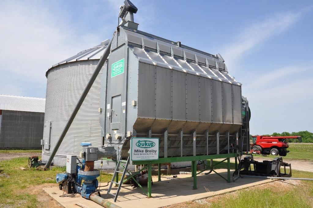 Sukup T1612BS 16' stainless steel grain dryer