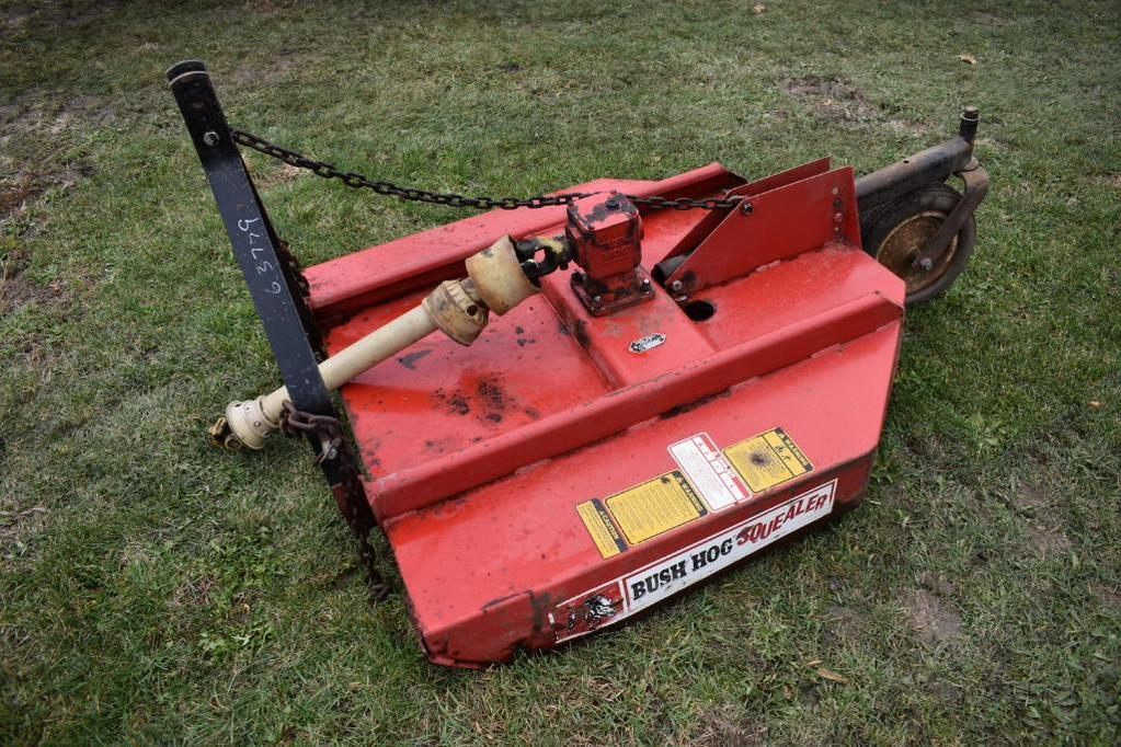 Lot: Bush Hog Squealer 4' 3-pt  rotary mower | Proxibid Auctions