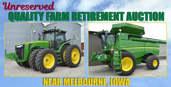 Zahnd No-Reserve Farm Retirement Auction