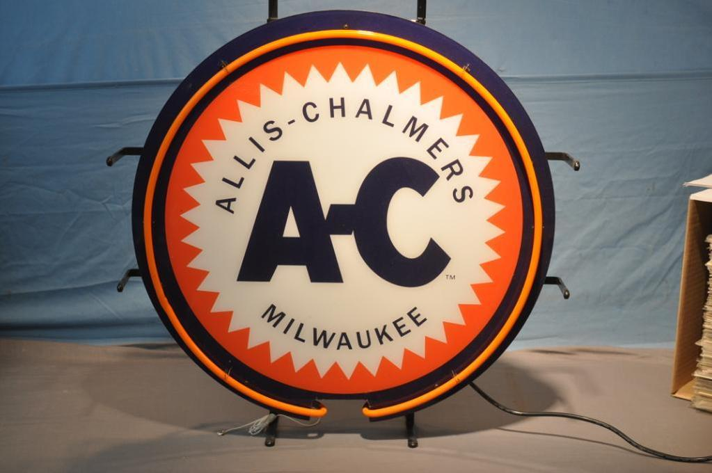 "24"" ALLIS CHALMERS REPRODUCTION NEON SIGN"
