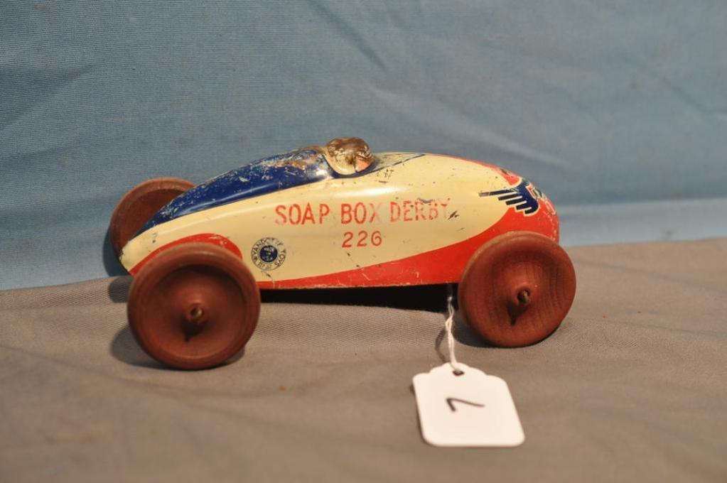 "6"" LONG WYANDOTTE SOAP BOX DERBY CAR"
