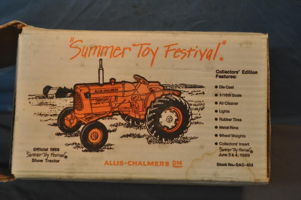 SPEC CAST 1/16TH SCALE AC D14 TRACTOR, SUMMER TOY FESTIVAL