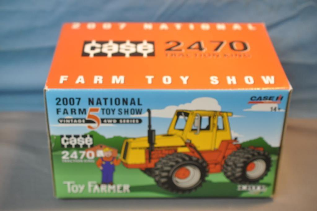 ERTL 1/32ND SCALE CASE 2470 4WD TRACTOR, 2007 FARM TOY SHOW