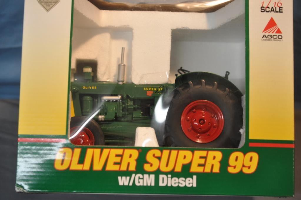 SPEC CAST 1/16TH SCALE OLIVER SUPER 99 DIESEL, MARK TWAIN TOY SHOW
