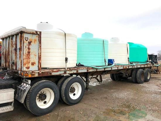 48' flatbed tender trailer