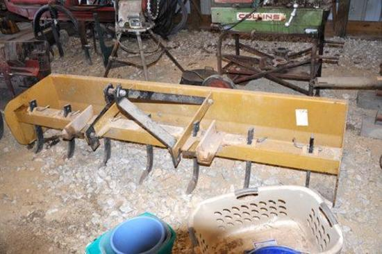 King Kutter 8' 3-pt. box blade with scarifier teeth