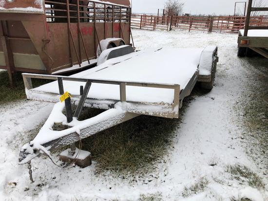 M&M 16'...tandem axle bumper hitch trailer