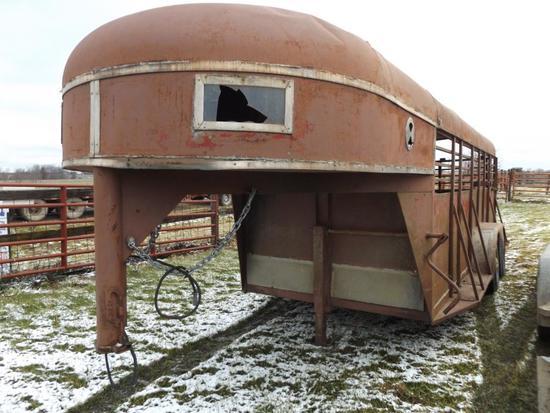 16' x 6' gooseneck livestock trailer