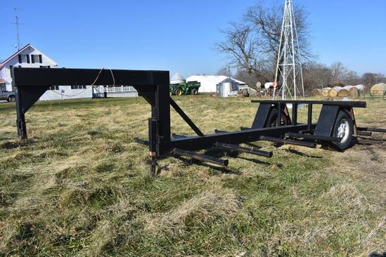 Shop built 6-bale gooseneck hay trailer
