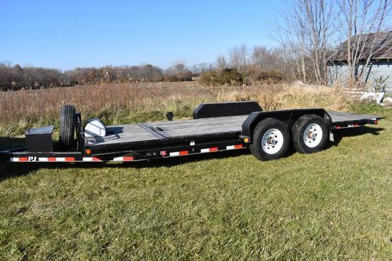 2014 PJ 20' tilt deck trailer