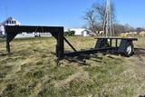 Shop built 6-bale gooseneck hay trailer