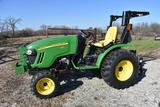2012 John Deere 2520 MFWD compact utility tractor