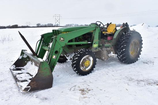 1996 John Deere 6300 MFWD tractor