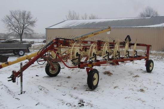 "H&S BF12C ""High Capacity"" 12 wheel hay rake"