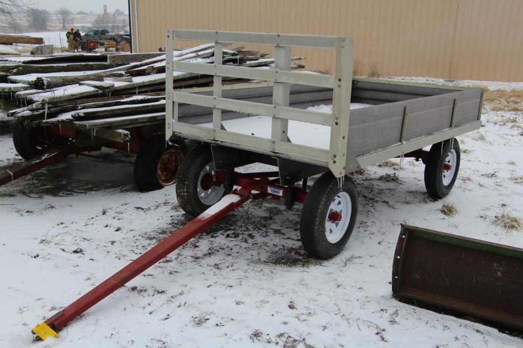 5' x 9' fiberglass flat rack wagon