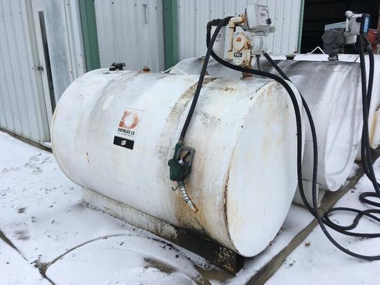 500 gal. fuel barrel w/110V pump & filter