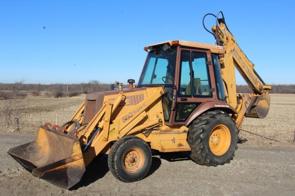 1993 Case 580 Super K 2wd loader backhoe
