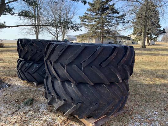 Flotation tires & rims for Case sprayer