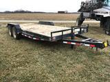 2009 PJ 20' bumper hitch flatbed trailer