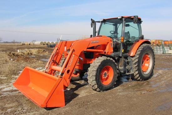 2015 Kubota M126GX MFWD tractor