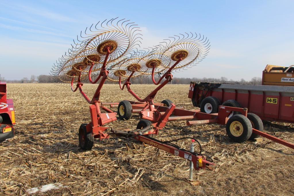 Sitrex 8-wheel hay rake