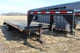 Hillsboro 24' flatbed gooseneck trailer