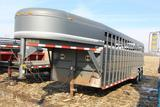 Corn Pro 24'x 7' steel gooseneck livestock trailer