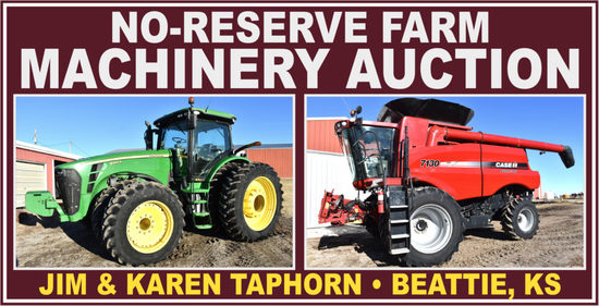 Taphorn No Reserve Farm Machinery Auction