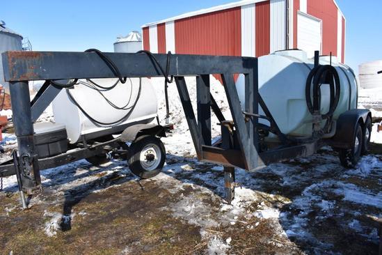 Shop Built 1,050 gal. liquid transfer trailer