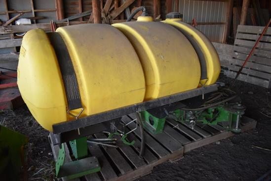 JD 300 gal. poly tank and mounting brackets