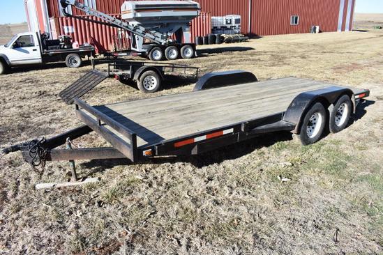 '96 Fastline 16' flatbed trailer