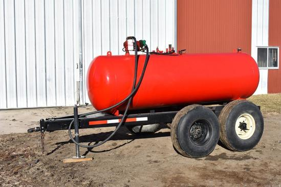 Shop Built 500 gal. fuel transport trailer