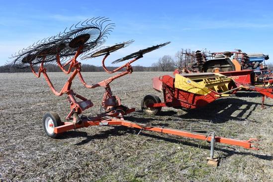 Befco 8-wheel hay rake