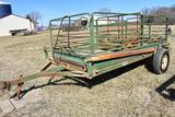 Automatic Walk- On 12' hydraulic lift hog cart