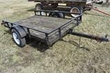 '98 Hogwild...8' tilt deck flatbed trailer
