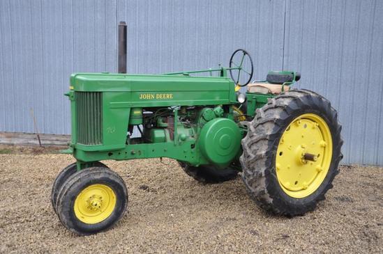 1953 John Deere 70 2wd gas tractor