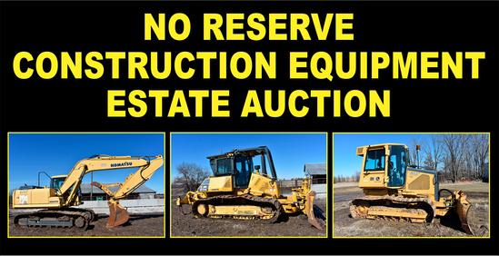 No Reserve Construction Equipment Estate Auction