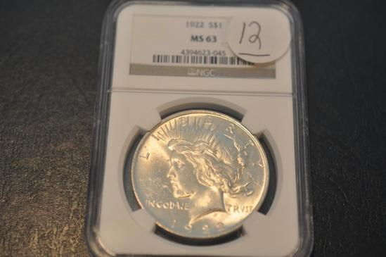 1922 NGC MS 63 SILVER PEACE DOLLAR