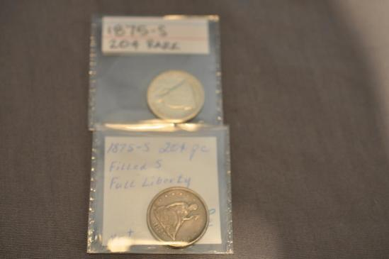 (2) 20 CENT PIECES