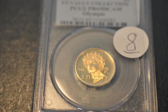 1988-W PCGS PR69 DCAM OLYMPIC GOLD
