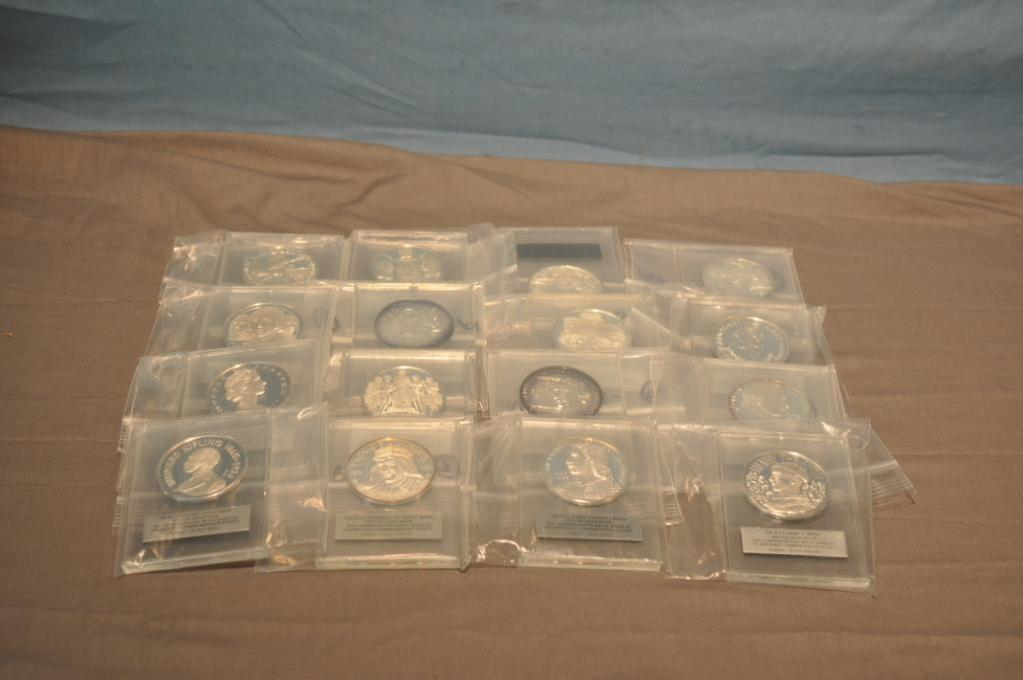 (16) SILVER PROOF MEDALS