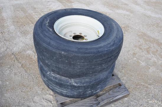 (2) truck tires on 8-bolt rims