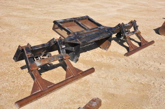 Stalk stomper attachment for 4WD tractor