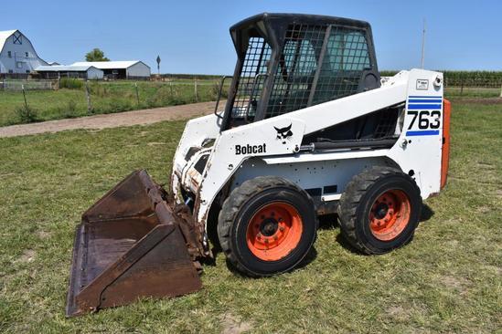 Bobcat 763 skid loader