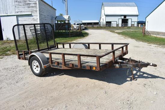 PJ 8312 7'x 12' bumper hitch utility trailer