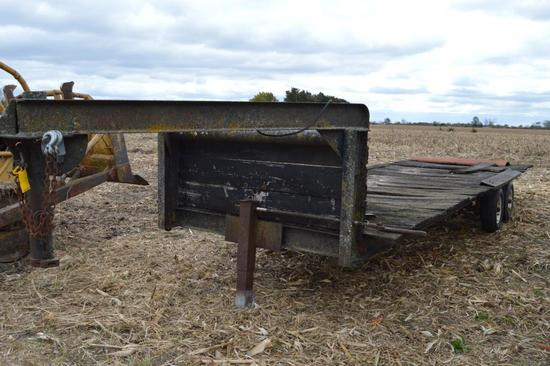 Shop Built gooseneck tandem axle trailer